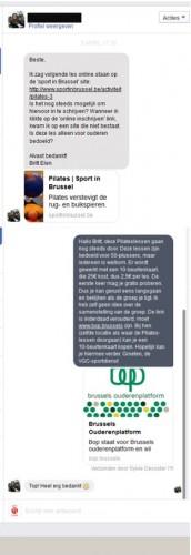Messenger conversatie Sport